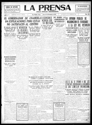 Primary view of La Prensa (San Antonio, Tex.), Vol. 10, No. 309, Ed. 1 Thursday, December 21, 1922