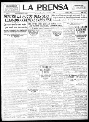 Primary view of object titled 'La Prensa (San Antonio, Tex.), Vol. 6, No. 1619, Ed. 1 Tuesday, July 15, 1919'.