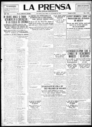 La Prensa (San Antonio, Tex.), Vol. 8, No. 2,394, Ed. 1 Tuesday, November 1, 1921, La Prensa