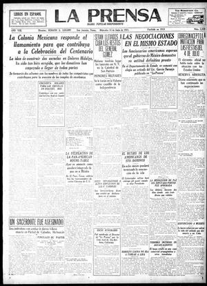 La Prensa (San Antonio, Tex.), Vol. 8, No. 2,259, Ed. 1 Wednesday, June 15, 1921, La Prensa