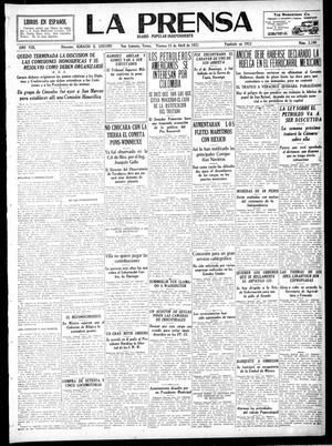 Primary view of La Prensa (San Antonio, Tex.), Vol. 8, No. 2,198, Ed. 1 Friday, April 15, 1921