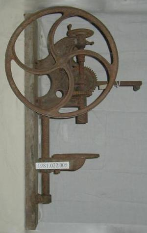 A drill press bought from Sears in 1921.