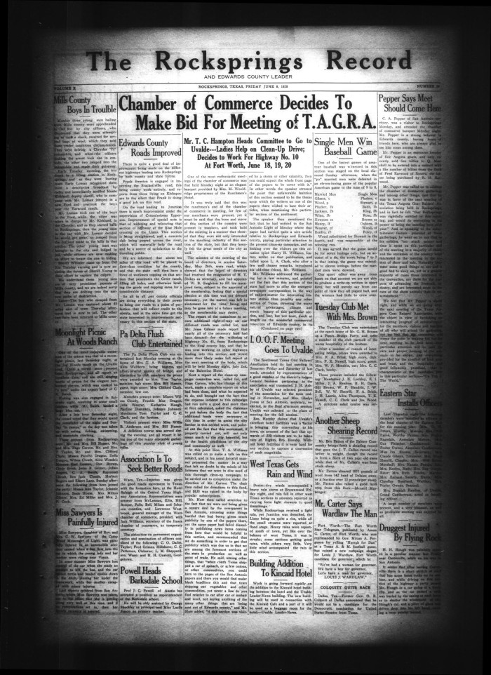 The Rocksprings Record and Edwards County Leader