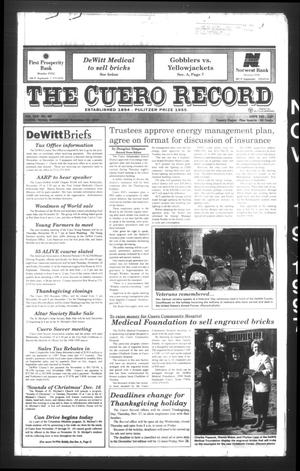 Primary view of object titled 'The Cuero Record (Cuero, Tex.), Vol. 103, No. 45, Ed. 1 Wednesday, November 19, 1997'.