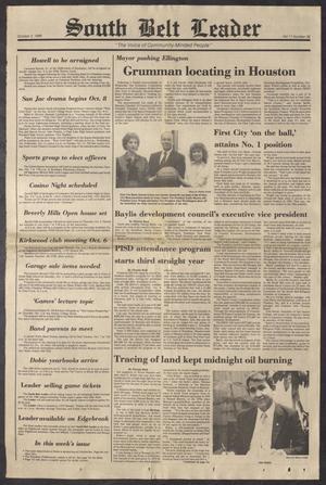 South Belt Leader (Houston, Tex.), Vol. 11, No. 36, Ed. 1 Thursday, October 2, 1986