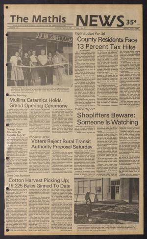 The Mathis News (Mathis, Tex.), Vol. 62, No. 33, Ed. 1 Thursday, August 15, 1985