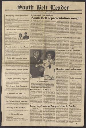 South Belt Leader (Houston, Tex.), Vol. 11, No. 34, Ed. 1 Thursday, September 18, 1986