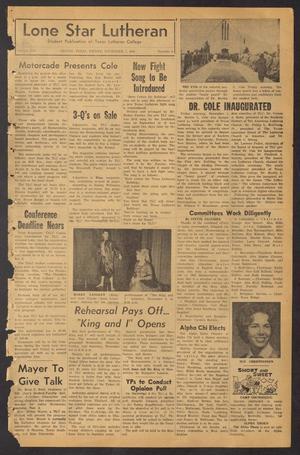 Lone Star Lutheran (Seguin, Tex.), Vol. 45, No. 6, Ed. 1 Friday, November 1, 1963