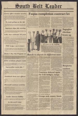 South Belt Leader (Houston, Tex.), Vol. 11, No. 23, Ed. 1 Thursday, July 3, 1986