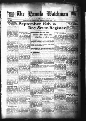 The Panola Watchman (Carthage, Tex.), Vol. 45, No. 52, Ed. 1 Wednesday, September 4, 1918