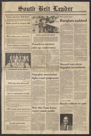 South Belt Leader (Houston, Tex.), Vol. 11, No. 25, Ed. 1 Thursday, July 17, 1986