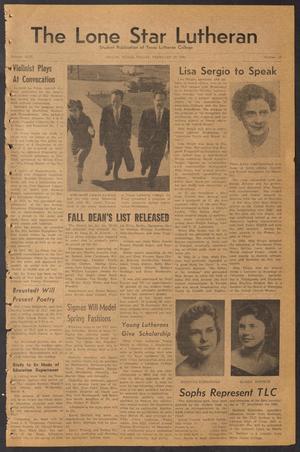 The Lone Star Lutheran (Seguin, Tex.), Vol. 42, No. 17, Ed. 1 Friday, February 24, 1961