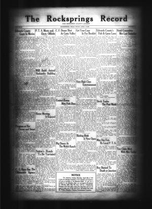 Primary view of object titled 'The Rocksprings Record and Edwards County Leader (Rocksprings, Tex.), Vol. 10, No. 20, Ed. 1 Friday, April 27, 1928'.