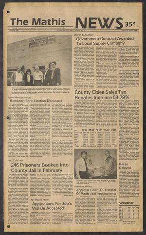 The Mathis News (Mathis, Tex.), Vol. 62, No. 12, Ed. 1 Thursday, March 21, 1985