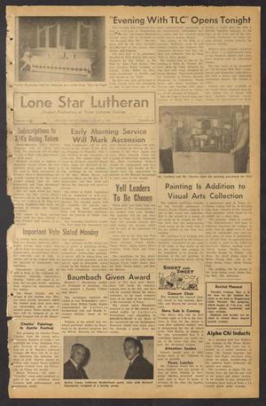 Primary view of object titled 'Lone Star Lutheran (Seguin, Tex.), Vol. 45, No. 22, Ed. 1 Friday, May 1, 1964'.