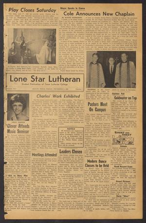 Lone Star Lutheran (Seguin, Tex.), Vol. 45, No. 7, Ed. 1 Friday, November 8, 1963
