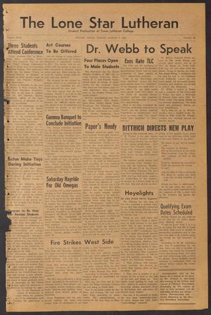 The Lone Star Lutheran (Seguin, Tex.), Vol. 42, No. 18, Ed. 1 Friday, March 3, 1961