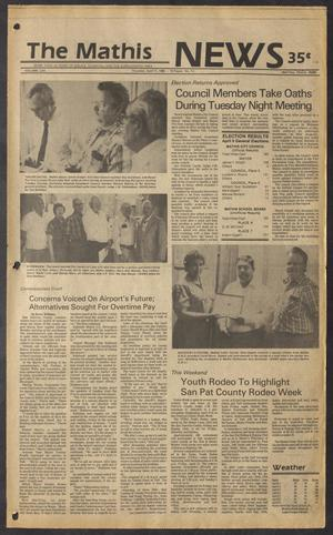 The Mathis News (Mathis, Tex.), Vol. 62, No. 15, Ed. 1 Thursday, April 11, 1985