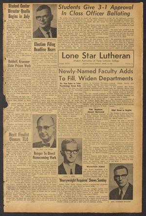 Lone Star Lutheran (Seguin, Tex.), Vol. 47, No. 21, Ed. 1 Friday, April 15, 1966