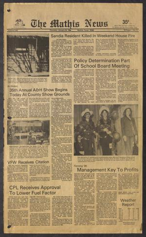 The Mathis News (Mathis, Tex.), Vol. 62, No. 4, Ed. 1 Thursday, January 24, 1985