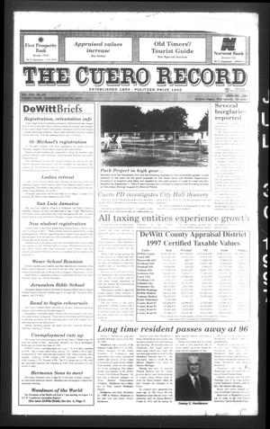 Primary view of object titled 'The Cuero Record (Cuero, Tex.), Vol. 103, No. 29, Ed. 1 Wednesday, July 30, 1997'.