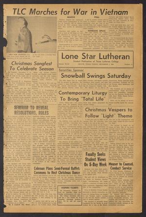 Lone Star Lutheran (Seguin, Tex.), Vol. 47, No. 10, Ed. 1 Friday, December 3, 1965