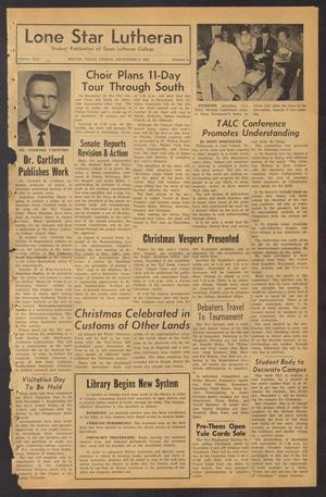 Lone Star Lutheran (Seguin, Tex.), Vol. 45, No. 9, Ed. 1 Friday, December 6, 1963