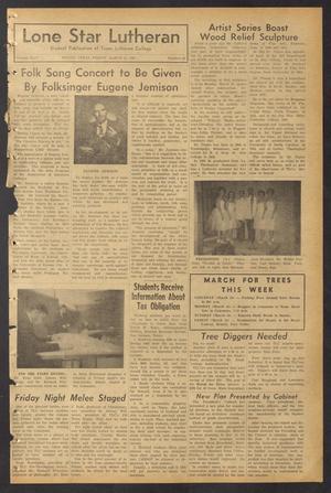 Lone Star Lutheran (Seguin, Tex.), Vol. 44, No. 20, Ed. 1 Friday, March 15, 1963