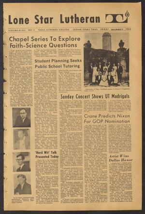 Lone Star Lutheran (Seguin, Tex.), Vol. 48, No. 11, Ed. 1 Friday, December 9, 1966