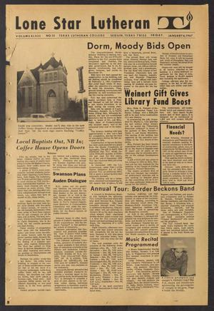 Primary view of object titled 'Lone Star Lutheran (Seguin, Tex.), Vol. 48, No. 13, Ed. 1 Friday, January 6, 1967'.