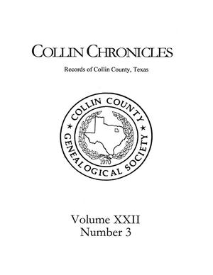 Primary view of object titled 'Collin Chronicles, Volume 22, Number 3, 2001/2002'.