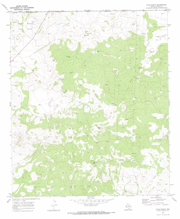 Map Of Texas Kyle.Kyle Ranch Quadrangle The Portal To Texas History