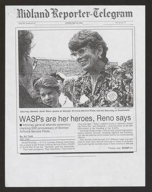 Primary view of object titled '[Clipping: WASPs are her heroes, Reno says]'.