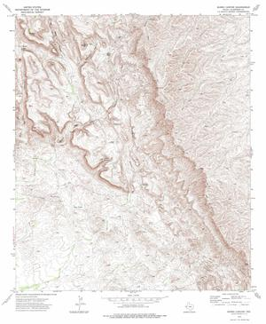 Primary view of object titled 'Burro Canyon Quadrangle'.