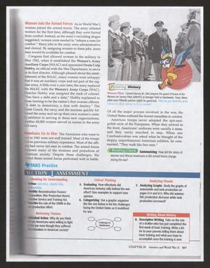 [History Textbook Page Featuring WASP]