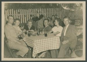 Primary view of object titled '[Young People at Picnic Table]'.