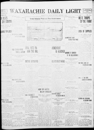 Primary view of object titled 'Waxahachie Daily Light (Waxahachie, Tex.), Vol. 22, No. 177, Ed. 1 Saturday, October 17, 1914'.