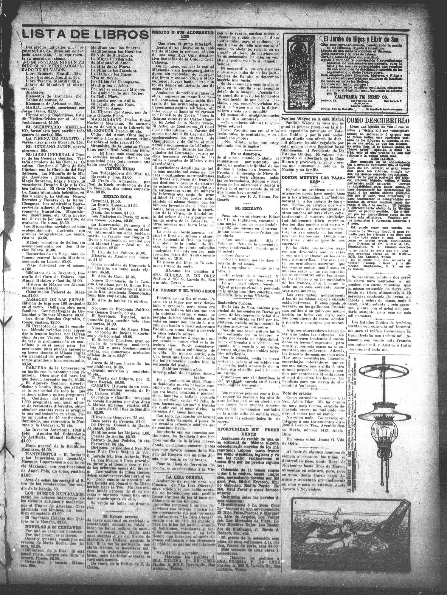 El Regidor (San Antonio, Tex ), Vol  22, No  1090, Ed  1