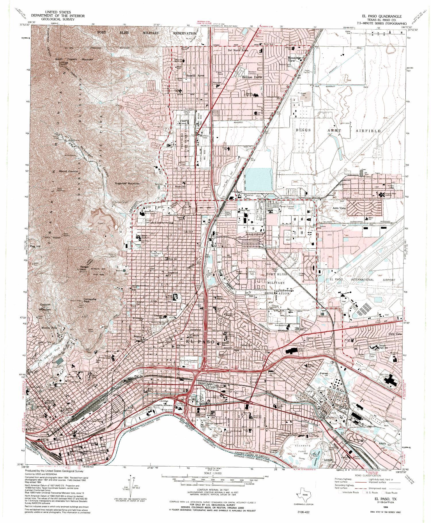 El Paso Quadrangle - The Portal to Texas History