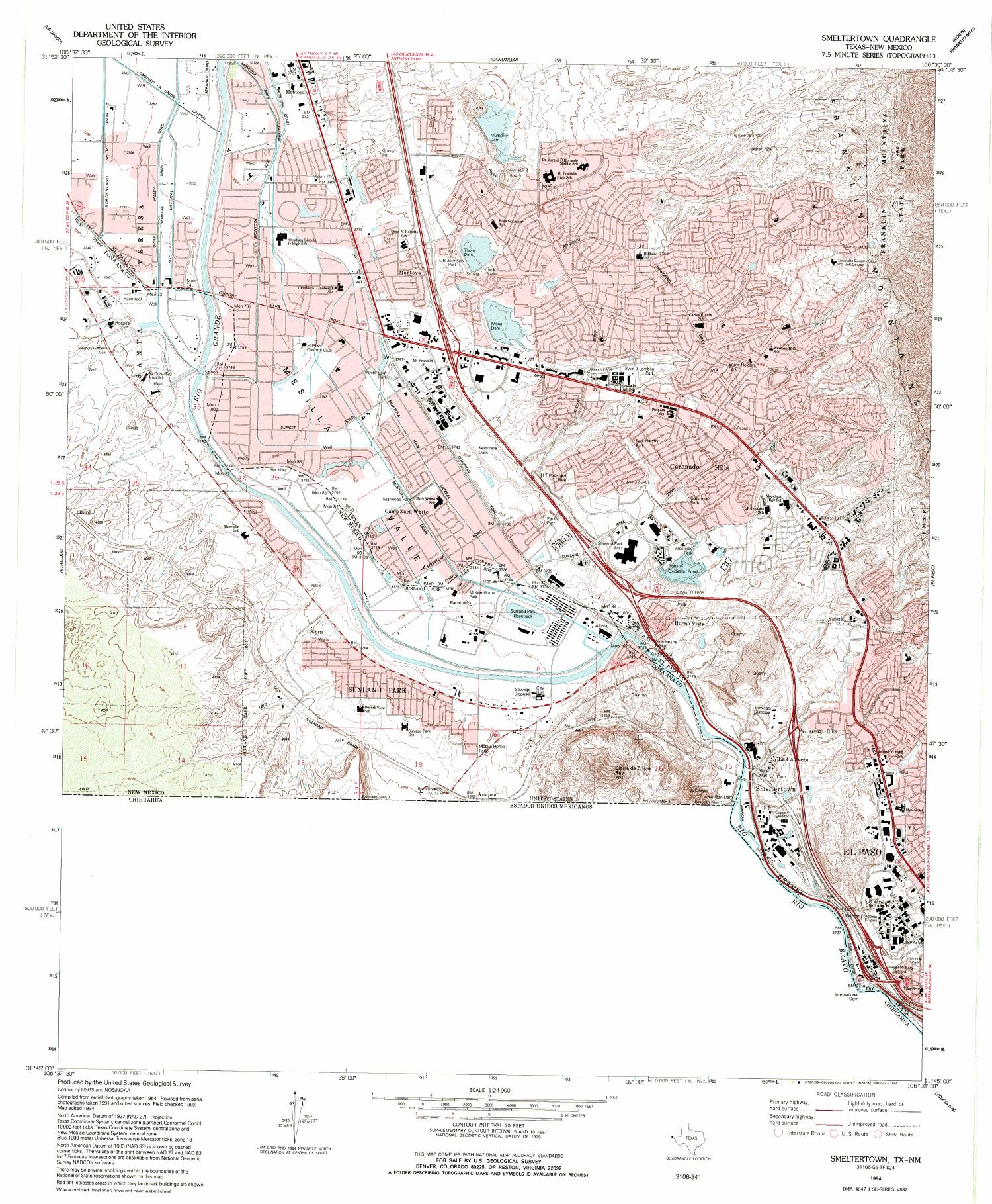 Smeltertown quadrangle the portal to texas history buycottarizona Image collections