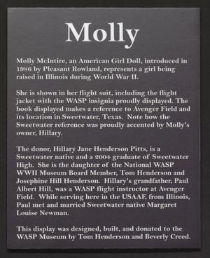 Primary view of object titled '[Molly, American Girl Doll]'.