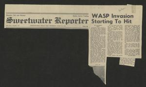 Primary view of object titled '[Clipping: WASP Invasion Starting To Hit]'.