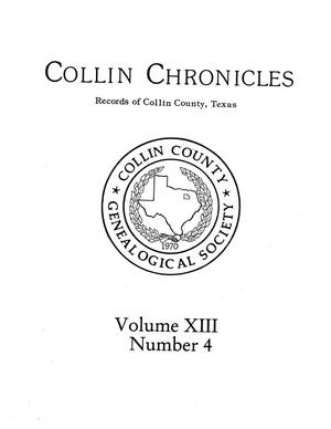 Primary view of object titled 'Collin Chronicles, Volume 13, Number 4, Summer 1993'.