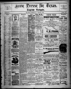 Primary view of Freie Presse für Texas. (San Antonio, Tex.), Vol. 18, No. 133, Ed. 1 Wednesday, November 15, 1882