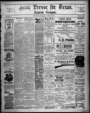 Primary view of Freie Presse für Texas. (San Antonio, Tex.), Vol. 18, No. 147, Ed. 1 Friday, December 1, 1882