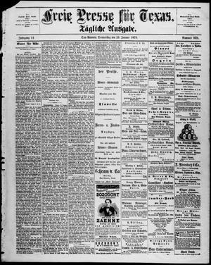 Primary view of Freie Presse für Texas. (San Antonio, Tex.), Vol. 14, No. 969, Ed. 1 Thursday, January 23, 1879