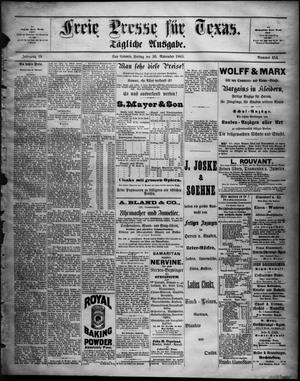 Primary view of Freie Presse für Texas. (San Antonio, Tex.), Vol. 19, No. 454, Ed. 1 Friday, November 30, 1883