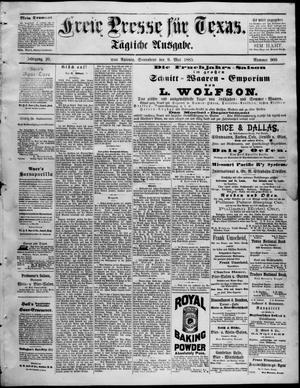 Primary view of Freie Presse für Texas. (San Antonio, Tex.), Vol. 20, No. 900, Ed. 1 Saturday, May 9, 1885