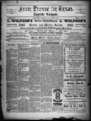 Primary view of Freie Presse für Texas. (San Antonio, Tex.), Vol. 23, No. 1714, Ed. 1 Tuesday, December 20, 1887