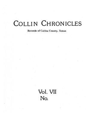 Collin Chronicles, Volume 7, Number 1, September 1986